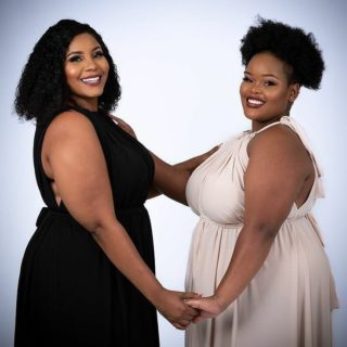 When women support each other, amazing things happen! ❤ @ms_msngcobo and @starrgirlsa Thank you for always supporting @bodypositiveza 🙏 #PlusSize #Models #LiveYourBestPlusLife