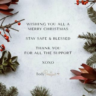 Wishing all our clients, friends and followers a very Merry Christmas. A special thank you ❤, without your support during this very difficult year, we honestly wouldn't be here. We appreciate every order, post like, share and review. Stay safe and blessed this festive season. 🌹🌹🌹 From all of us at Body Positive + Claudia, Niza and Ricki & team #BodyPositiveZa #SoGrateful #LiveYourBestPlusLife